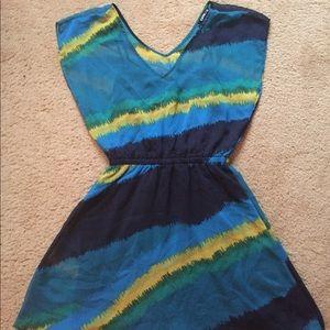 Express Sheer Lined Dress
